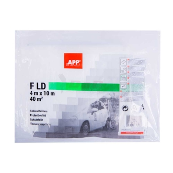APP F HD Abdeckfolie 4 x 10m transparent 40 qm